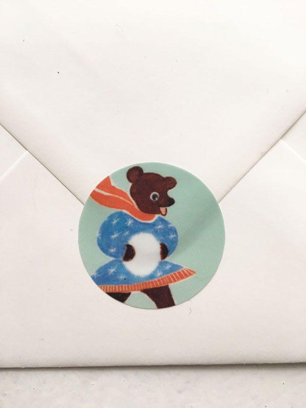 Sticker - Schlittschuhbär
