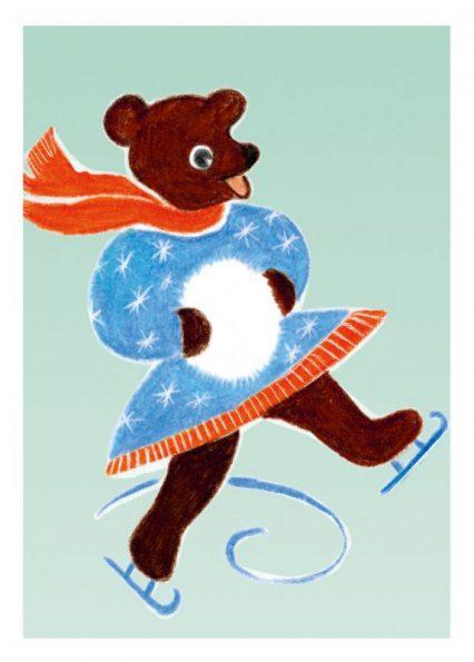 happy - schlittschuhbär