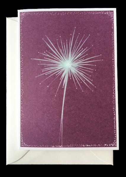 doppelkarten - pusteblume
