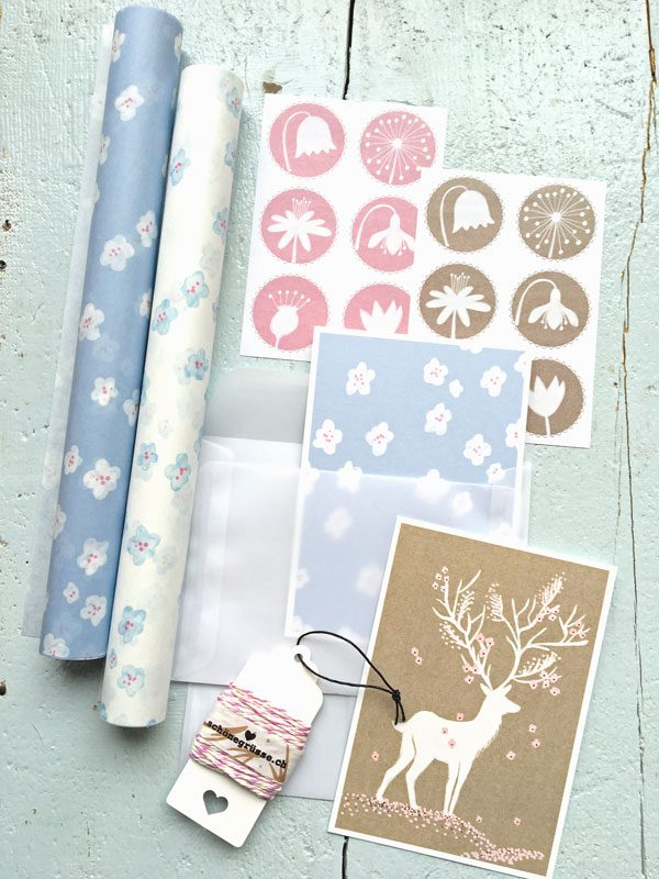 set-wickelpapier-blueten